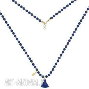 handmade naszyjniki lapis naszyjnik z lapisów lazuli - boho