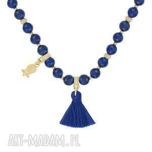 niebieskie naszyjniki lapis naszyjnik z lapisów lazuli - boho