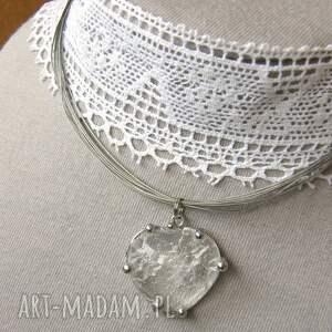 białe naszyjniki naszyjnik z-kryształem: z naturalnym
