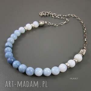 turkusowe naszyjniki opal naszyjnik z niebieskiego opalu