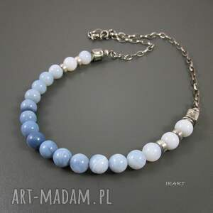 nietuzinkowe naszyjniki opal naszyjnik z niebieskiego opalu