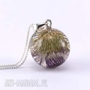fioletowe naszyjniki żywica naszyjnik z ostem no. 2