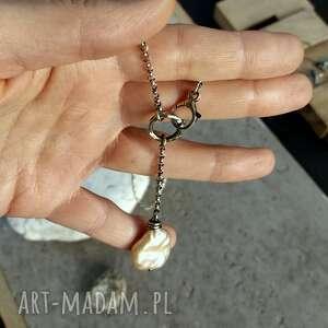 trendy naszyjniki naszyjnik-lariat naszyjnik z perłą - srebro 925