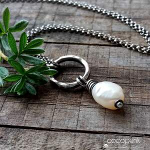 naszyjniki prezent naszyjnik z perłą - srebro