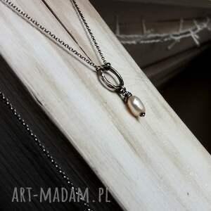 naszyjniki naszyjnik z perłą - srebro