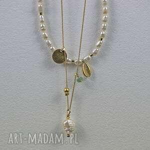 zGustem Naszyjnik z perłą - delikatny srebro zlocone