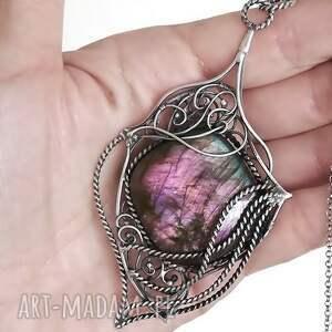 hand-made naszyjniki naszyjnik z pięknym purpurowym