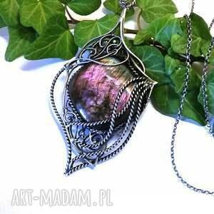 turkusowe naszyjniki srebro naszyjnik z pięknym purpurowym