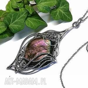 hand-made naszyjniki wisior naszyjnik z pięknym purpurowym