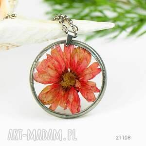 hand-made naszyjniki naszyjnik-z-kwiatem naszyjnik z prawdziwym kwiatem