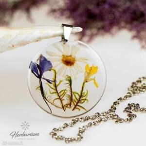 naszyjniki biżuteria z-żywicy naszyjnik z prawdziwymi kwiatami