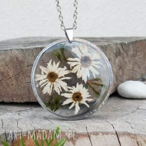 handmade naszyjniki elegancki naszyjnik z prawdziwymi kwiatami