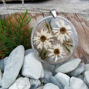 naszyjniki elegancki naszyjnik z prawdziwymi kwiatami