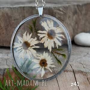 Artseko naszyjniki: Naszyjnik z prawdziwymi kwiatami z41 - Handmade