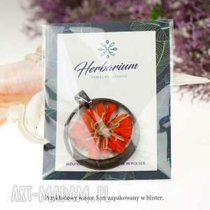 czerwone naszyjniki biżuteria z-żywicy naszyjnik z prawdziwymi kwiatami