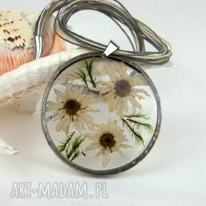 szare naszyjniki suszone kwiaty naszyjnik z prawdziwymi kwiatami