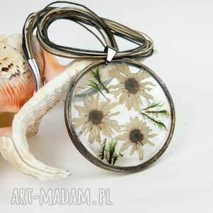 handmade naszyjniki naszyjnik z-suszonyc z prawdziwymi kwiatami