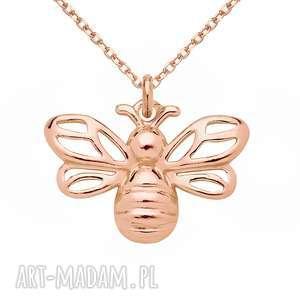 handmade naszyjniki pszczoła naszyjnik z pszczółką różowego