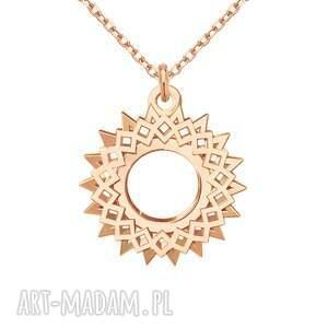 modne naszyjniki bransoletka naszyjnik z rozetą różowego złota