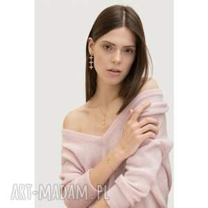 naszyjniki naszyjnik z rozetkami różowego