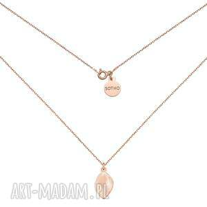 hand-made naszyjniki naszyjnik z różowego złota łezką
