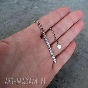 Naszyjnik z soplekiem fakturowanym - srebro pr. 925 - minimalistyczny