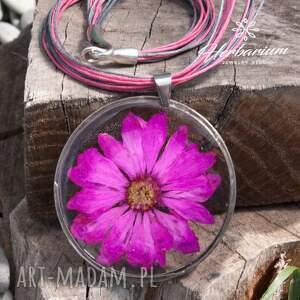 ręcznie robione naszyjniki naszyjnik boho z suszonym kwiatem wzór