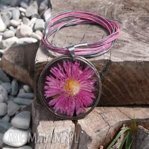 naszyjnik boho naszyjniki z suszonym kwiatem wzór