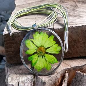 awangardowe naszyjniki naszyjnik z-kwiatów z suszonym kwiatem wzór