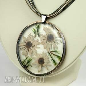 naszyjniki naszyjnik z-kwiatów z suszonym kwiatem wzór