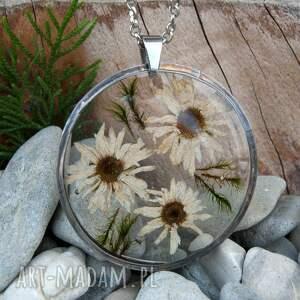 naszyjnik z-kwiatów naszyjniki białe z suszonym kwiatem wzór