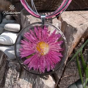 czarne naszyjniki suszone kwiaty naszyjnik z suszonym kwiatem wzór