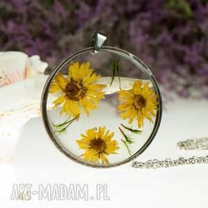 handmade naszyjniki naszyjnik z-żywicy z45 z suszonymi kwiatami