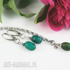 eleganckie naszyjniki naszyjnik z turkusem w srebrze