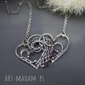 modne naszyjniki walentynki naszyjnik z turmalinami dwa serca