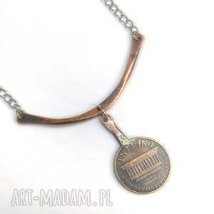 brązowe moneta naszyjnik z twoją datą