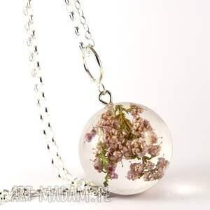 ręcznie zrobione naszyjniki kwiaty naszyjnik z wrzosem, srebrny