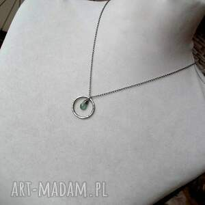 naszyjniki zielony-naszyjnik naszyjnik z zielonym kianitem - do