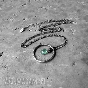 naszyjniki komplet-bizuterii naszyjnik z zielonym kianitem - do