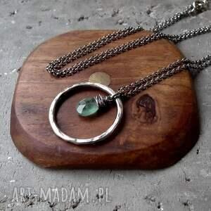 zielone naszyjniki komplet-biżuterii naszyjnik z zielonym kianitem - do