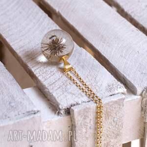 złote naszyjniki dmuchawiec naszyjnik z żywicy dmuchawcem