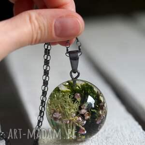 natura naszyjniki zielone naszyjnik z żywicy mchem