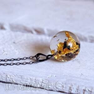 złoto naszyjniki czarne naszyjnik z żywicy węglikiem