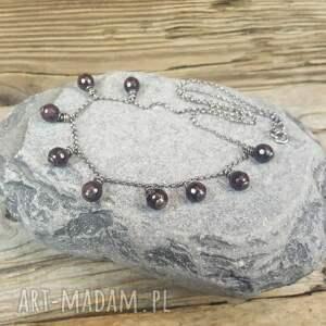 handmade naszyjniki naszyjnik ze srebra ze i granatów