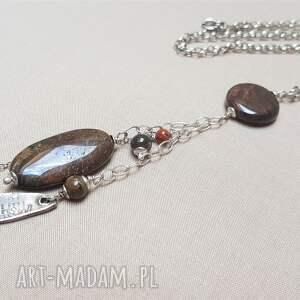 biżuteria z-jaspisem naszyjniki naszyjnik ze srebra i jaspisu {517}