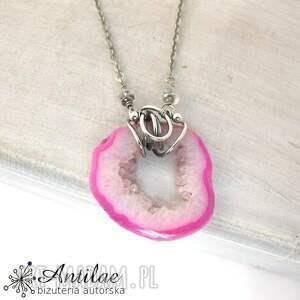 naszyjniki naszyjnik ze srebra i różowego