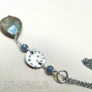 kobiecy naszyjniki naszyjnik ze srebra i jaspisu