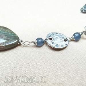 niebieskie naszyjniki srebro naszyjnik ze srebra i jaspisu