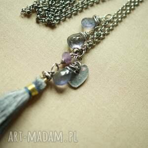 naszyjniki srebro naszyjnik ze srebra i iolitu