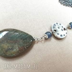 niesztampowe naszyjniki srebro naszyjnik ze srebra i jaspisu